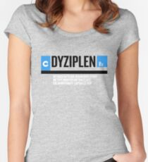 DYZIPLEN Women's Fitted Scoop T-Shirt