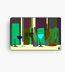 POPPING BOTTLES - BLURRED SPACES Canvas Print