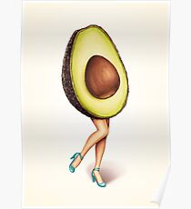 Fruit Stand - Avocado Girl Poster