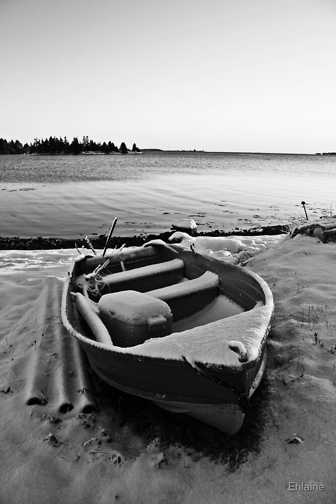 Boat in the Winter by Ehlaine