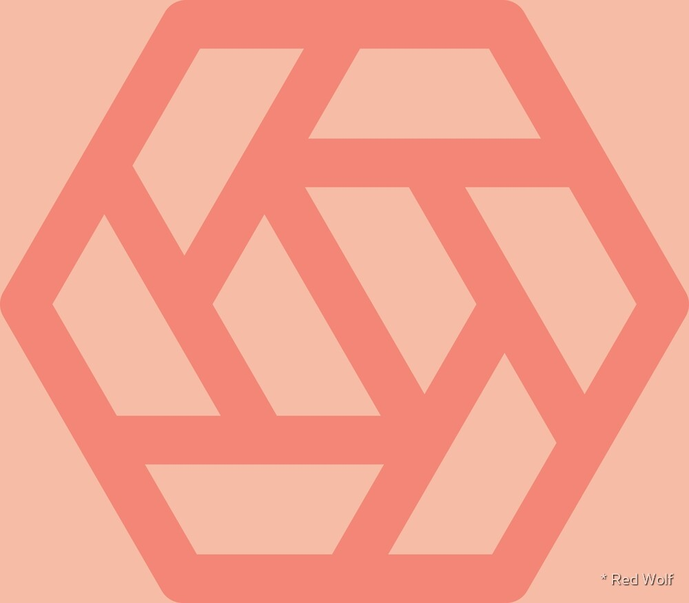 Geometric Pattern: Aperture: Salmon by * Red Wolf