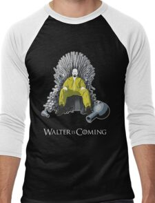 Walter is Coming (Breaking Bad x Game of Thrones) Men's Baseball ¾ T-Shirt