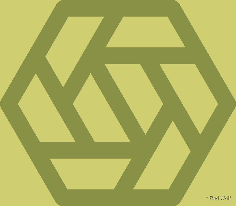 Geometric Pattern: Aperture: Olive by * Red Wolf