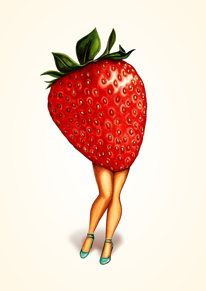 Fruit Stand - Strawberry Girl by Kelly  Gilleran