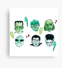 Universal Monsters Canvas Print