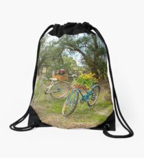 Ladies Vintage Bicycles... Drawstring Bag