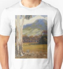 Farm with Large Gum Tree Unisex T-Shirt