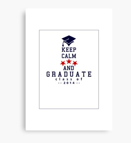 Keep Calm and graduate VRS2 Canvas Print