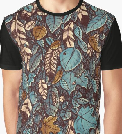 Leaves color blue Graphic T-Shirt