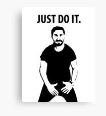 Shia LaBeouf - Just Do It Canvas Print