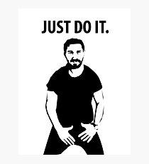 Shia LaBeouf - Just Do It Photographic Print