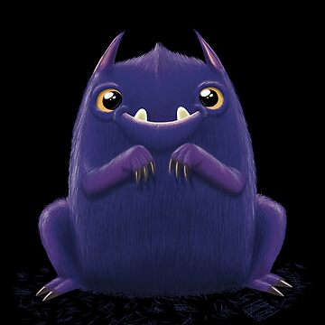 Cute purple monster - on dark tones by Captainsmog