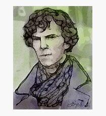 BBC Sherlock - Benedict Cumberbatch Fan Art Photographic Print