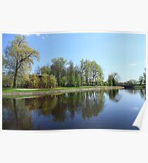Scenic spring landscape  Poster