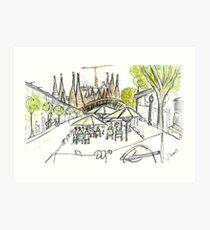 Sagrada Familia - Barcelona - www.cycleyourheartout.com Art Print