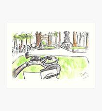 Arc de Triomf - Barcelona - www.cycleyourheartout.com Art Print
