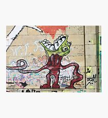 Weird Graffiti Monster Photographic Print