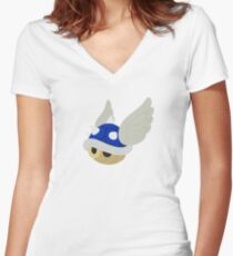 Blue Hell Women's Fitted V-Neck T-Shirt