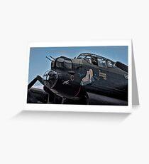 Lancaster Bomber 'Just Jane' Greeting Card