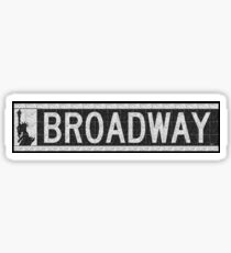 BROADWAY DECO SWING NYC Street Sign  Sticker