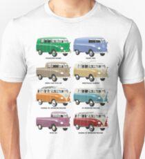 VW T1 Samba range T-Shirt