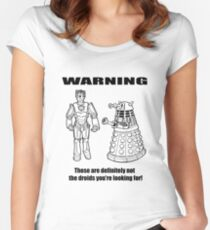 These are NOT the droids you are looking for! Women's Fitted Scoop T-Shirt