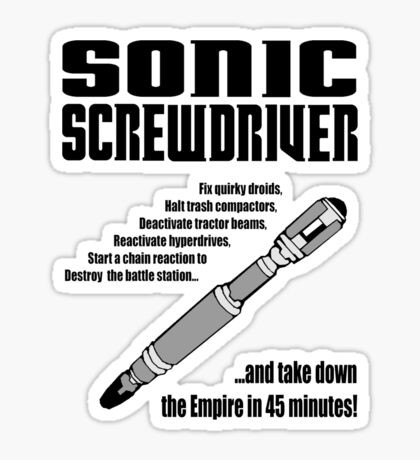 Sonic Screwdriver taking down the Empire Sticker