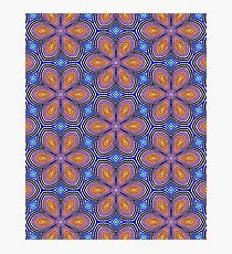 Knitted Flowers Pattern Photographic Print