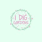 I dig gardens (wreath) by jazzydevil