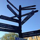 Signpost. Buxton. by Robert Steadman