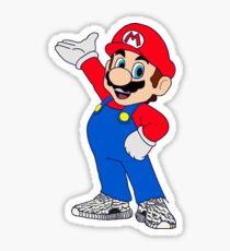 Super Mario Wearing Yeezy Boost 350 Sticker
