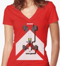 AYRTON SENNA MCLAREN MP4/4 1988 (1) Women's Fitted V-Neck T-Shirt