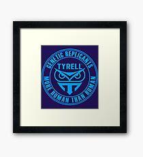 TYRELL CORPORATION - BLADE RUNNER (BLUE) Framed Print