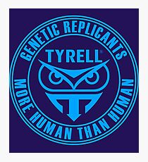 TYRELL CORPORATION - BLADE RUNNER (BLUE) Photographic Print