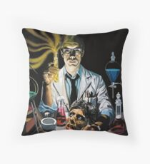 Re-Animator science fiction cover Throw Pillow