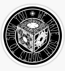 Hellraiser - We Have Such Sights to Show You - Clive Barker Sticker