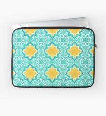 Yellow Venetian Tile Pattern Laptop Sleeve
