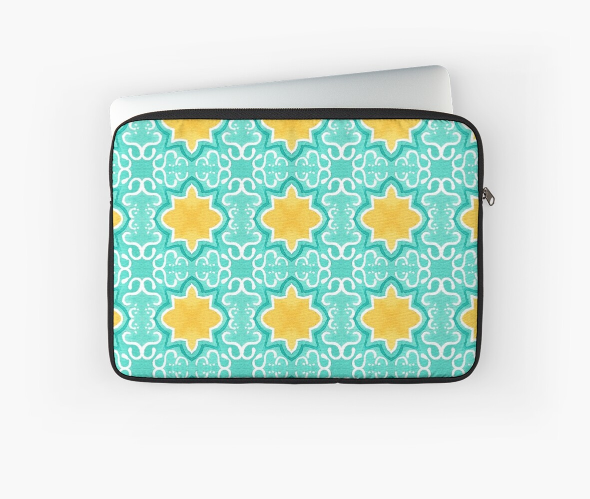 Yellow Venetian Tile Pattern by lauratubb