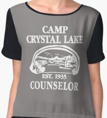 Camp Crystal Lake Counselor copy Women's Chiffon Top