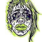 Sweatin' It - Navy & Green Version by Madison Cowles Serna