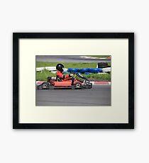 Go-cart Race Framed Print