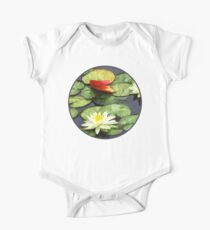 Water Lily Pond in Autumn One Piece - Short Sleeve