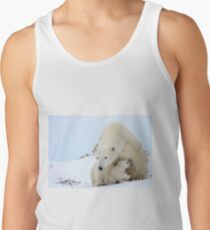 Mother plar bear watching over potential hazards Tank Top