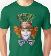 Camiseta ajustada El Sombrerero Loco (Estilo Van Gogh)
