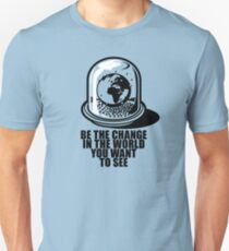 World Snow Globe - Gandhi Philosophy Unisex T-Shirt