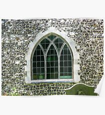 Arched church window Poster