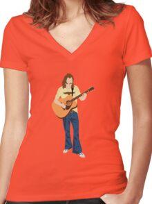 Tribute: Glenn Frey Women's Fitted V-Neck T-Shirt