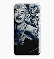 Marilyn with tattoos iPhone Case/Skin