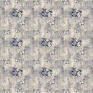 Grungy Black Butterfly Pattern by pjwuebker