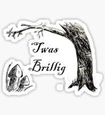 Twas Brillig Jabberwocky Alice in Wonderland Quote Poem Sticker
